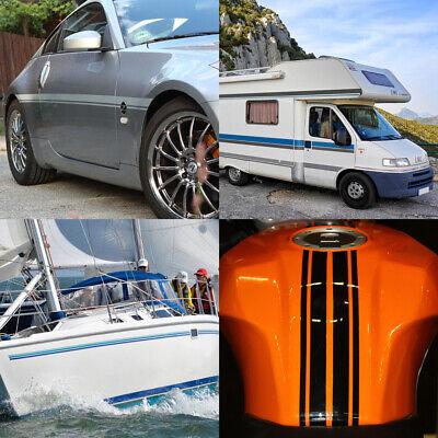 Zierstreifen 3mm 10 Meter Neon Orange Fluoreszierend Glänzend Glanz Auto Boot