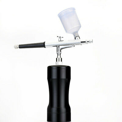 Mini Airbrush Kit Compressor Gun Dual Action Needle Spray Nozzle Fr Makeup Craft 12