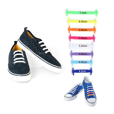 No Tie Elastic Silicone Shoe Laces Shoelaces Sneakers Runners Child/Adult/Unisex 6