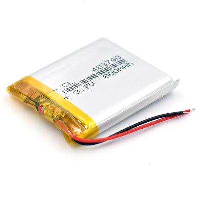 10pcs 483740 Rechargeable Battery 3.7V 800mAh Li-Polymer Li-ion LiPo for GPS MP3 7