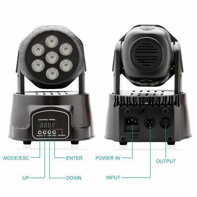 2x 105W RGBW Wash 7LED 9/14CH DMX Mini Moving Head Stage Light Lighting DJ Disco 5