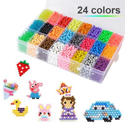 Wasserperlen Glitzer Basteln 5200pcs Perlen Nachfüllset Bastelset Toy für Kinder