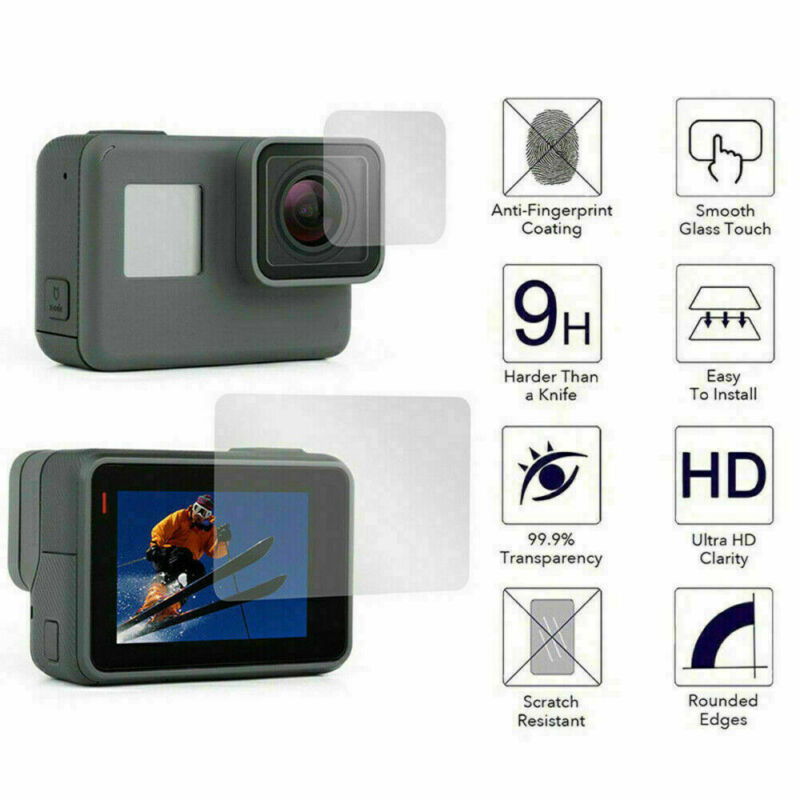 For Gopro Hero 7 Black Camera Accessories Lens&Screen Protector Protective Film 3