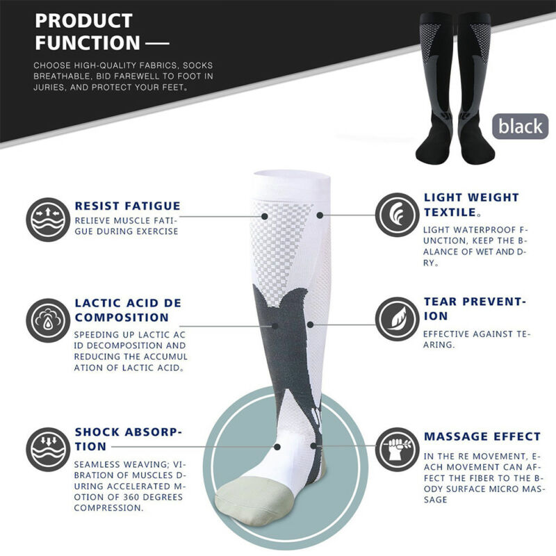 Medical Compression Socks Anti Fatigue Unisex Travel DVT Comfort Thigh Stockings 3
