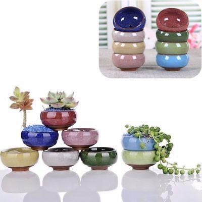 NEWEST Ice-Crack Glaze Flower Ceramics Succulent Plant Mini Pot Garden Flowerpot 6