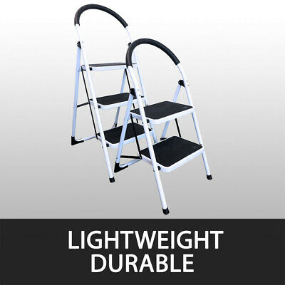 2 Or 3 Step Ladder Multi Purpose  Domestic Household Office Foldable Non Slip 4