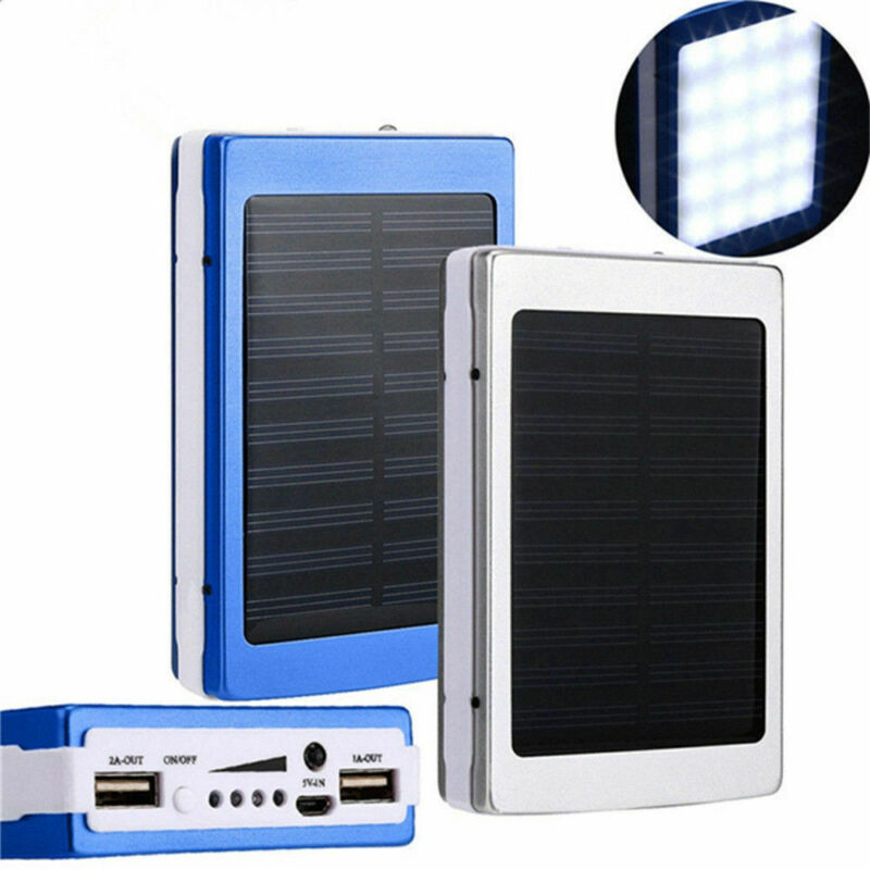 30000mAh Dual USB Portable Solar Battery Charger Power Bank For Cell Phone 7