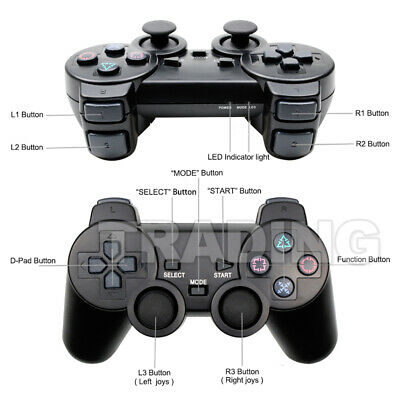 2x For PS2 PlayStation 2 Wire Cable Controller Dual Shock Gamepad Console Joypad 6