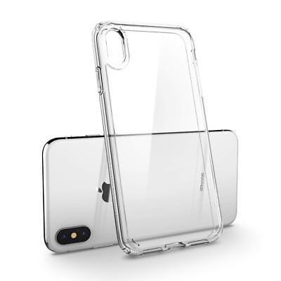 Cover Custodia + Pellicola Vetro Temperato Per Iphone Xs / Max / Xr Trasparente 3