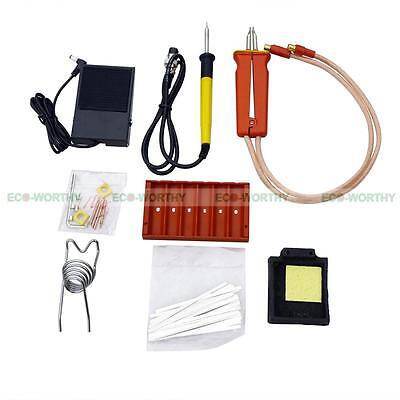 1.9KW 110V 60A LED Dual Pulse Spot Welding Welder Battery Charger +Foot Pedal 3
