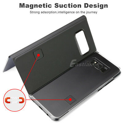 Slim Cover Luxury Flip Stand Case for Samsung Galaxy S10 S9 S8 Plus S7 Note 9 8 6