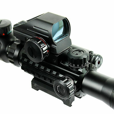4-12X50 EG Tactical Rifle Scope with Holographic 4 Reticle Sight & Red Laser JG8 6