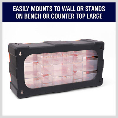 22-132 Drawers Storage Cabinet Tool Box Bin Chest Case Plastic Organiser Toolbox