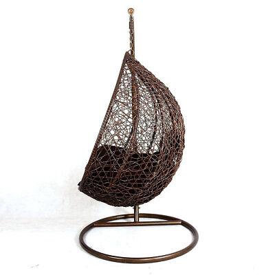 Hanging Rattan Swing Patio Garden Chair Weave Egg w/ Cushion In Outdoor 4