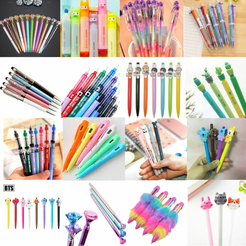 Black Gel Pen Colorful Ballpoint Business Writing Student School Stationery Tool 2