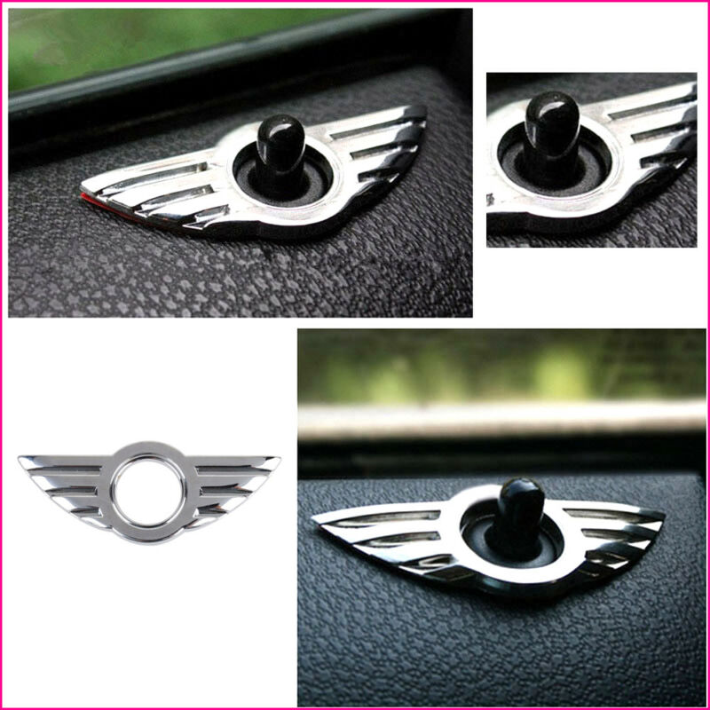 2 x 3D Car Metal Door Pin Badge Union Jack GB For BMW MINI Cooper//S//ONE//Clubman