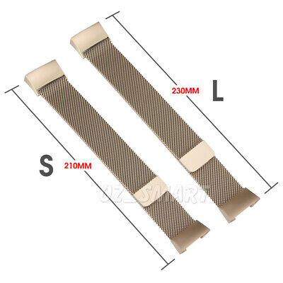 For Fitbit Charge 3 Band Metal Stainless Steel Milanese Loop Wristband Strap 8