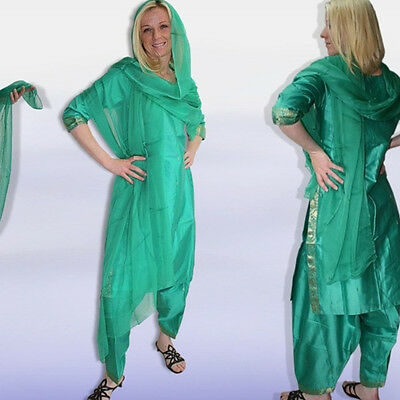Salwar Kameez + Chiffon-Schal, sehr edel! Gr.38,INDIEN,Bollywood sari kostüm 4T0 2