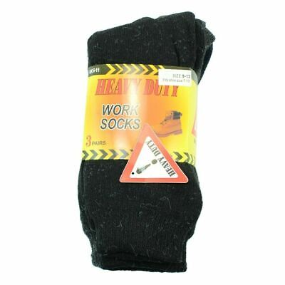 3 Pairs Mens Heavy Duty Winter Thermal Work Boots Wool Cotton Crew Socks 9-13 5
