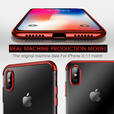 iPhone X XS MAX XR 8 7 Case Shockproof Soft Bumper Tough Gel Clear Cover Apple 7