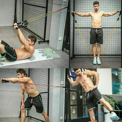 Resistance Bands Workout Exercise Yoga 11Pcs Set Crossfit Fitness Training Tubes 2