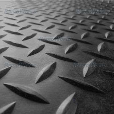 Heavy Duty Checker-Plate Rubber Flooring Matt 3mm Anti Slip 150CM X Choice