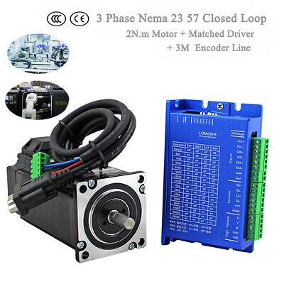 NEMA34 NEMA23 DSP Closed Loop Stepper Motor Drive Kit 2PH/3PH CNC Router 1-12NM 2