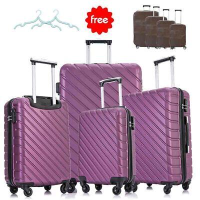 "Set of 5&4&3 Nest Spinner Luggage Set Trolley Suitcase w/Lock 18'' 20'' 24"" 28"" 3"