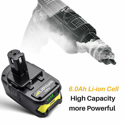 2 Pack 6.0Ah Lithium Battery For Ryobi ONE+ 18V P108 Replacement P104 P102 Tools 4