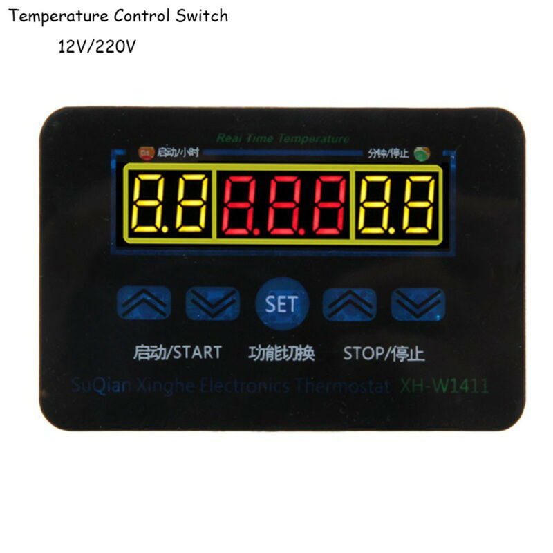 12/220V 10A Digital LED Temperature Controller Thermostat Control Switch Probe 3