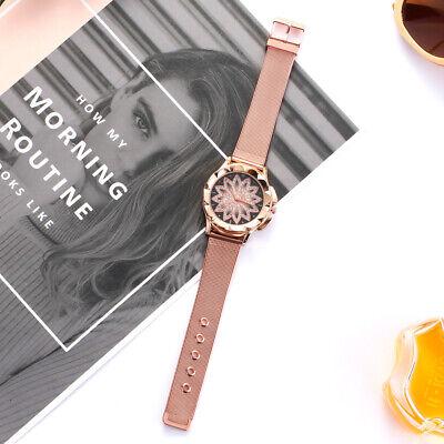 ASAMO modische Damen Armbanduhr mit Strass Steinen und Metall Armband AMA205 4
