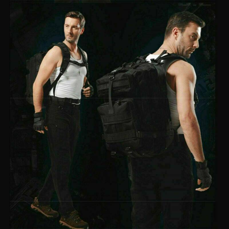 30L/40L/50L Military Tactical Army Rucksacks Molle Backpack Camping Hiking Bag 11