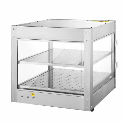 Commercial Food Warmer Display Showcase Cabinet Pizza Soup Case Stainless Steel 2