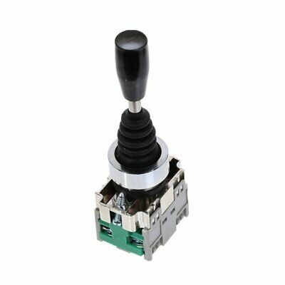 2NO Momentary 22mm Fixing Thread 2 Way Joystick Lever Switch AC 400V 10A 2