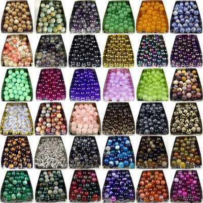 Natural Gemstone Round Spacer Loose Beads 4mm 6mm 8mm 10mm Assorted Stones DIY 5