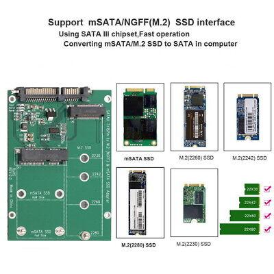 mSATA / M2 NGFF SSD to SATA Converter Adapter Combo Card M.2 2 In 1 6
