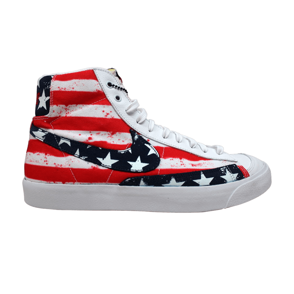 Nike Blazer Mid Usa Olympic Independence Day July 4 White Red Blue Men Shoe 11 5 250 00 Picclick