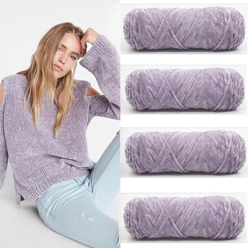100g Chenille Wool Warm Velvet Thickness Yarn Soft Worsted Knitting Crochet Yarn 8