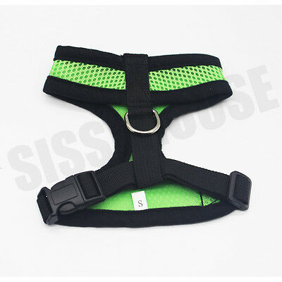 AU Pet Cat Dog Puppy Soft Leash VEST Mesh Breathe Harness Braces Clothes New 6