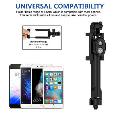 Unipod Selfie Stick Handheld Tripod Bluetooth Shutter For iPhone 11 Pro Samsung 10