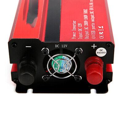 1500/6000W Caravan Power Inverter DC 12V to AC 220V Converter 4 USB 3 Socket UK 9