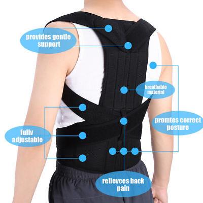 Unisex Posture Corrector Lumbar Lower Back Support Shoulder Brace Pain Magnetic 4