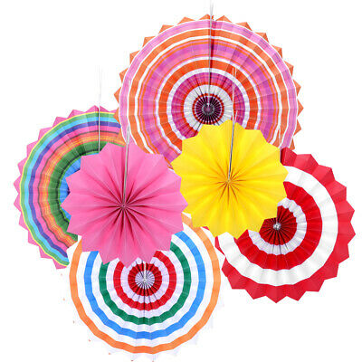 6x Paper Fan Flowers Wedding Baby Birthday Party Garland Tissue Paper Decoration 9