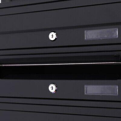 Briefkasten Postkasten Standbriefkasten Briefkastenanlage Letterbox Schwarz