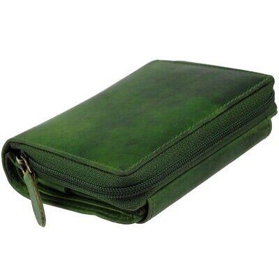 Leder Damen Portemonnaie Geldbörse Brieftasche GREEN VALLEY Geldbeutel Purse NEU