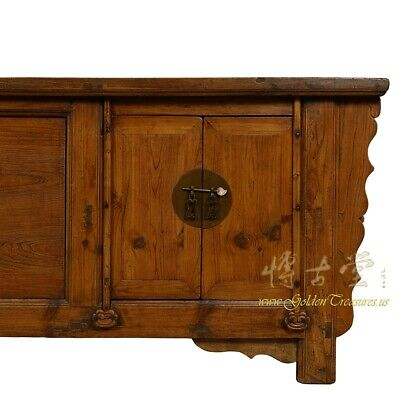 Antique Chinese Rustic Long Sideboard/Buffet Table, Credenza 8