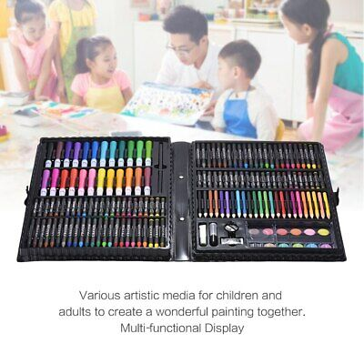 NEW 168pc Art Set with Crayons Pastels Markers Pencils Paint Felt Tips with Case 5