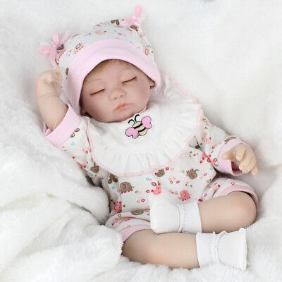 "16"" Handmade Reborn Baby Dolls Realistic Vinyl Silicone Newborn Girl Doll Gift 2"