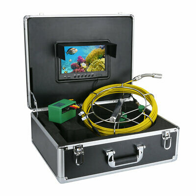 "9""LCD DVR 40M Waterproof Drain Pipe Sewer Inspection Camera System 8GB TF Card 4"
