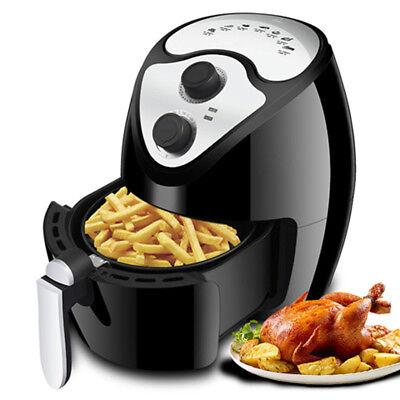 Freidora de Aire Caliente Sin Aceite Sistema Robot Cocina 1230W 2,6L Negra Nuevo 2